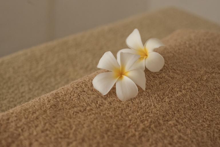 ručník a květy